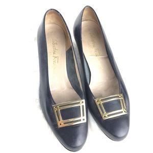 Salvatore Ferragamo Vintage Leather Heels